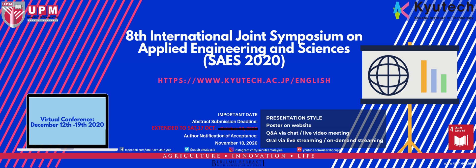 8th International Joint Symposium on Applied Engineering and Sciences (SAES 2020)